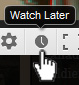 YouTube watch later button